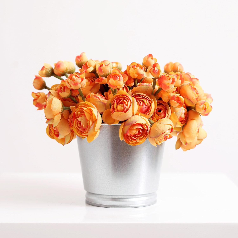 Primrue Ranunculus Floral Arrangement In Pot Wayfair