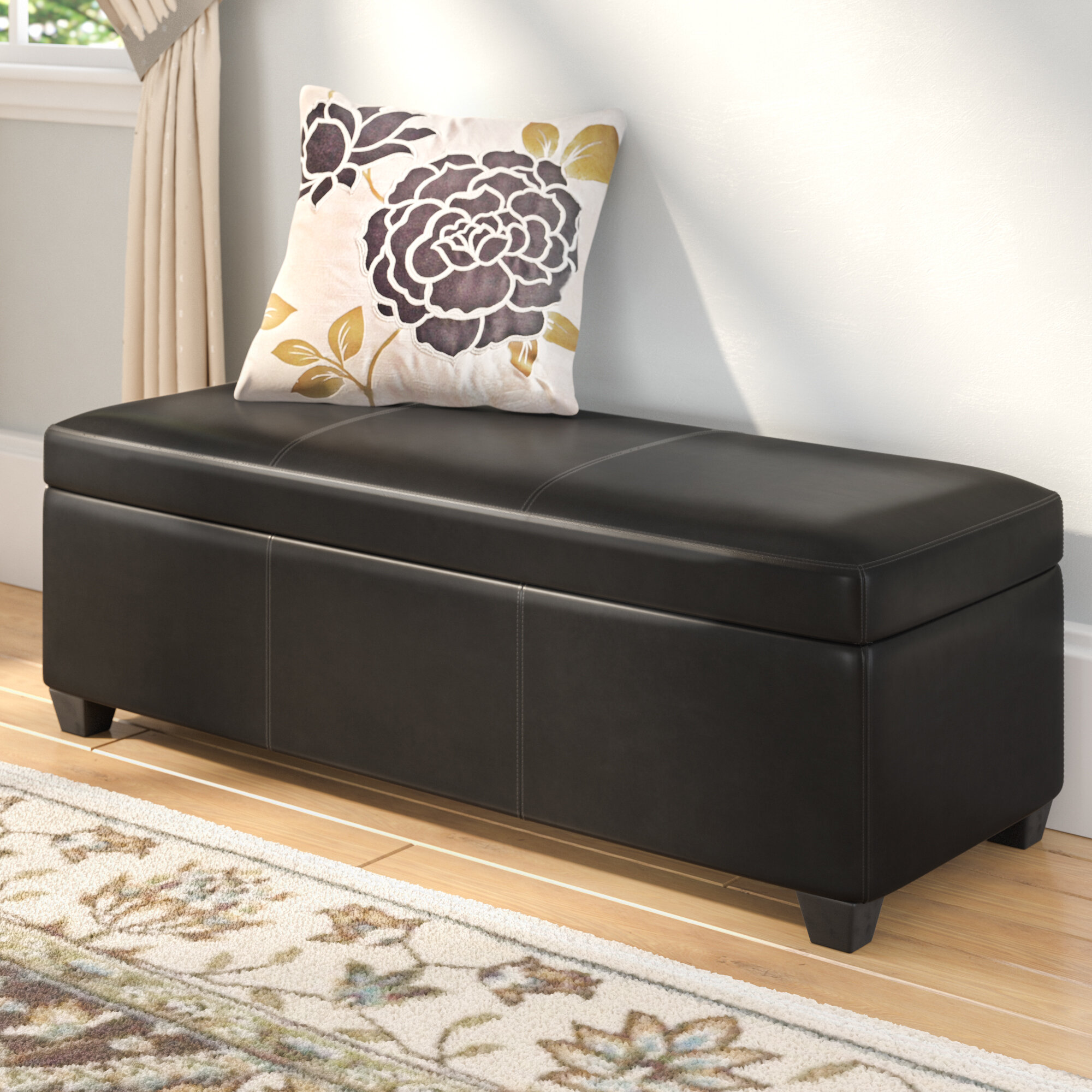 Andover Mills Boston Faux Leather Storage Bench U0026 Reviews | Wayfair