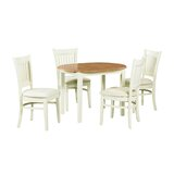 Shippy 5 Piece Extendable Solid Wood Dining Set by August Grove®