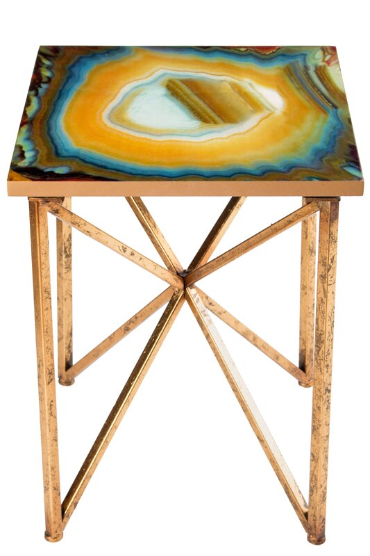Captivating Or Agate End Table