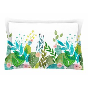 Li Zamperini 'Cute Foliage' Watercolor Sham