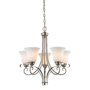 Bargain Malinda 5-Light Shaded Chandelier By Fleur De Lis Living