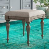 Adalric Solid Wood Vanity Stool by Ophelia & Co.