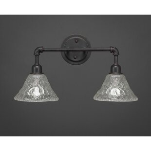 Price Check Kash 2-Light Italian Bubble Glass Vanity Light By Williston Forge