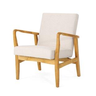 Gardner Ivory/Walnut Armchair