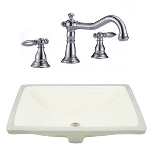 Best Price Ceramic Rectangular Undermount Bathroom Sink with Faucet and Overflow By American Imaginations