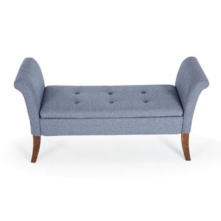 Online Reviews Yokoyama Settee Upholstered Button Tufted Storage Bench By George Oliver