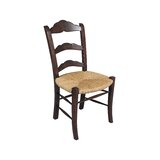 Ashcroft Solid Wood Ladder Back Side Chair in Brown (Set of 2) by Manor Born Furnishings