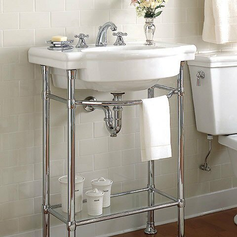 American Standard Retrospect Ceramic 27 Console Bathroom Sink With