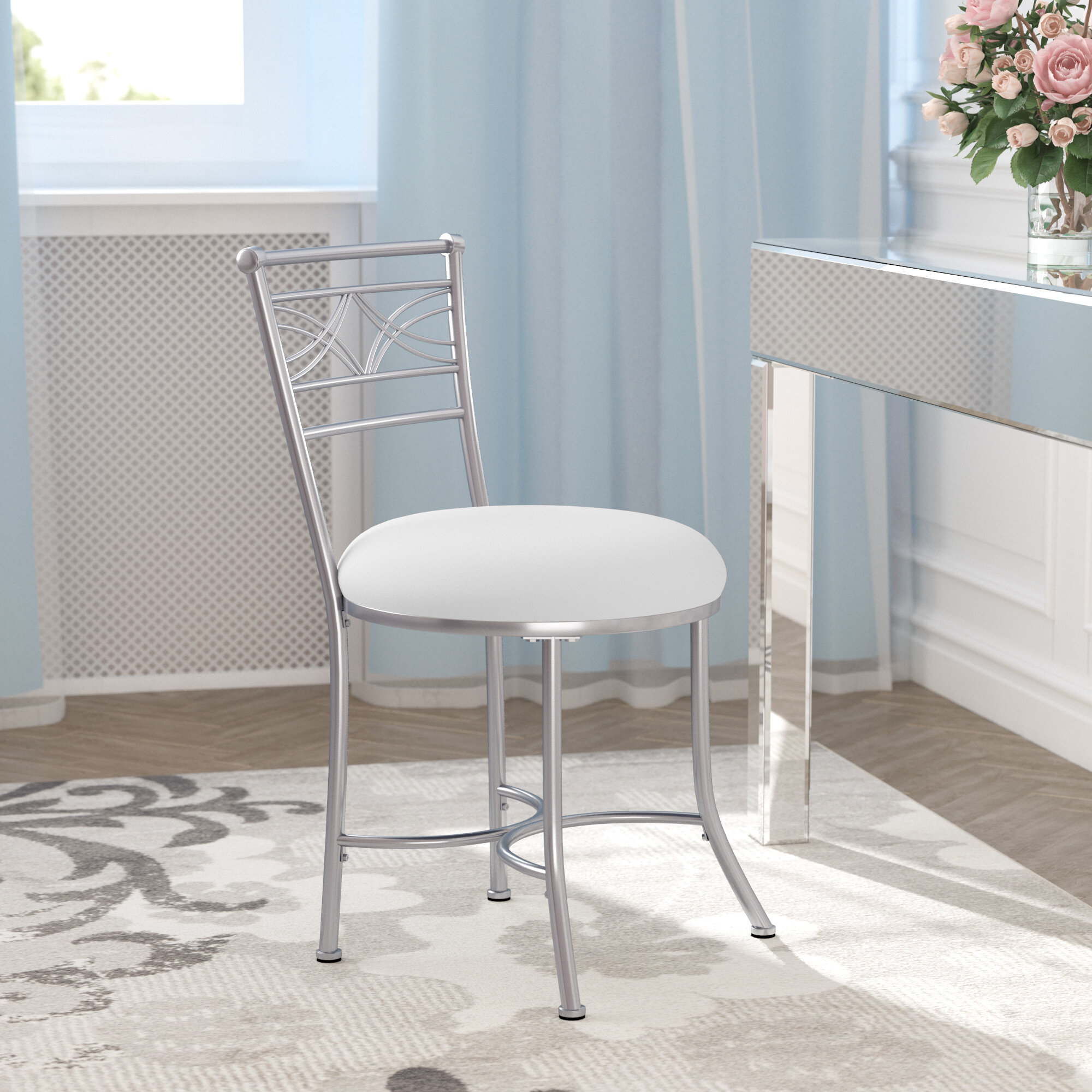Wayfair Vanity With Back Accent Stools You Ll Love In 2021
