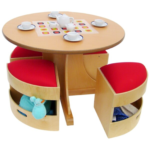 sc 1 st  Wayfair & A+ Child Supply 5 Piece Table and Stools Set u0026 Reviews | Wayfair