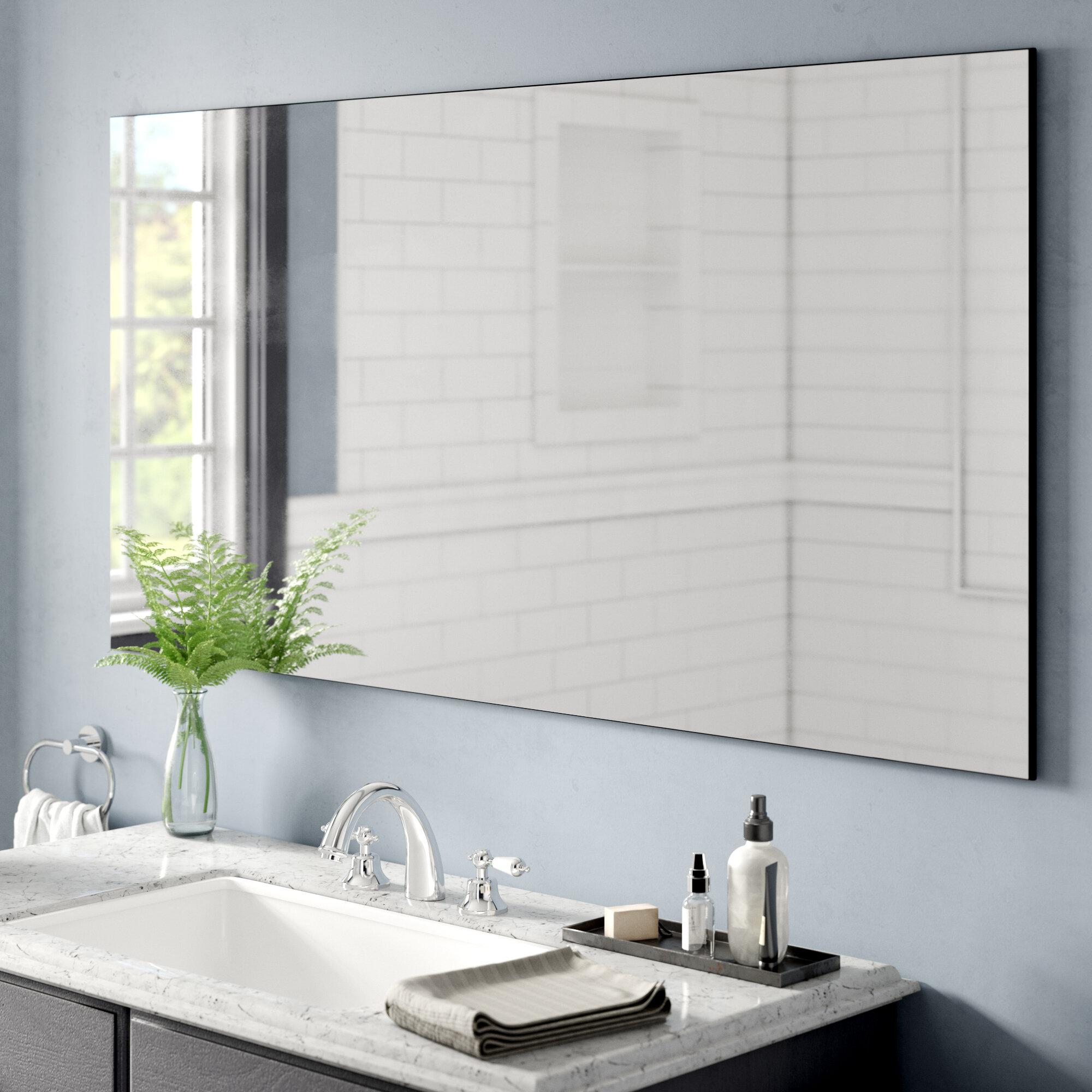 Latitude Run Azaireyah Modern Contemporary Beveled Frameless Bathroom Vanity Mirror Reviews Wayfair