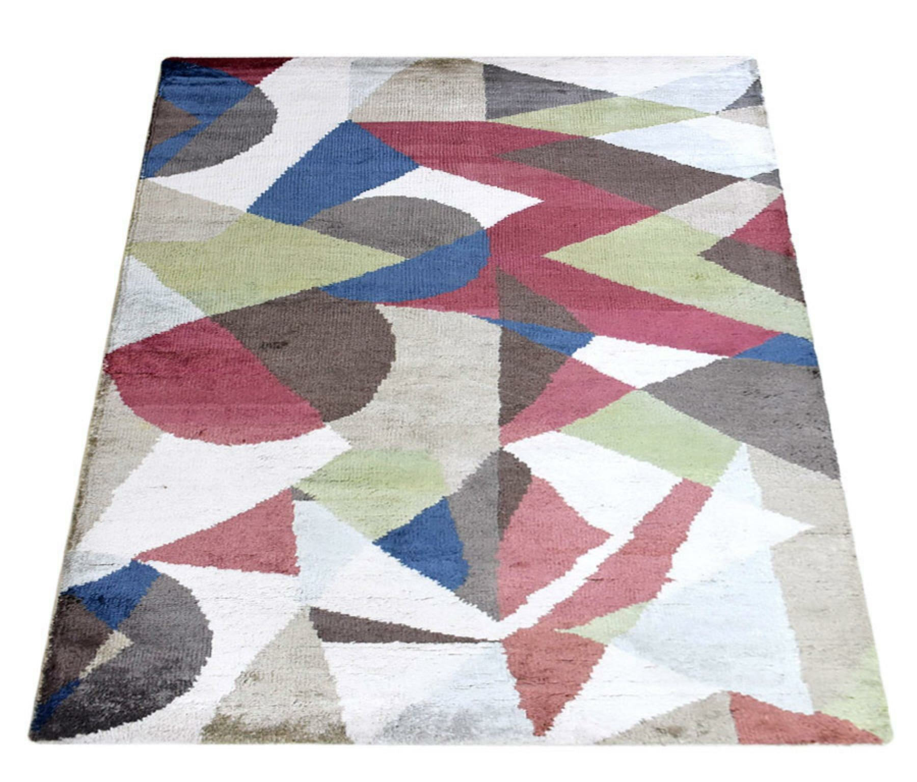 George Oliver Patchway Abstract Hand Knotted Brown Area Rug Wayfair Ca