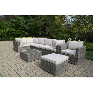 Oakland Living Borneo 8 Piece Sectional Set with Cushions