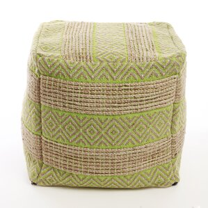 Decorative Diamond and Stripe Pattern Pouf O..