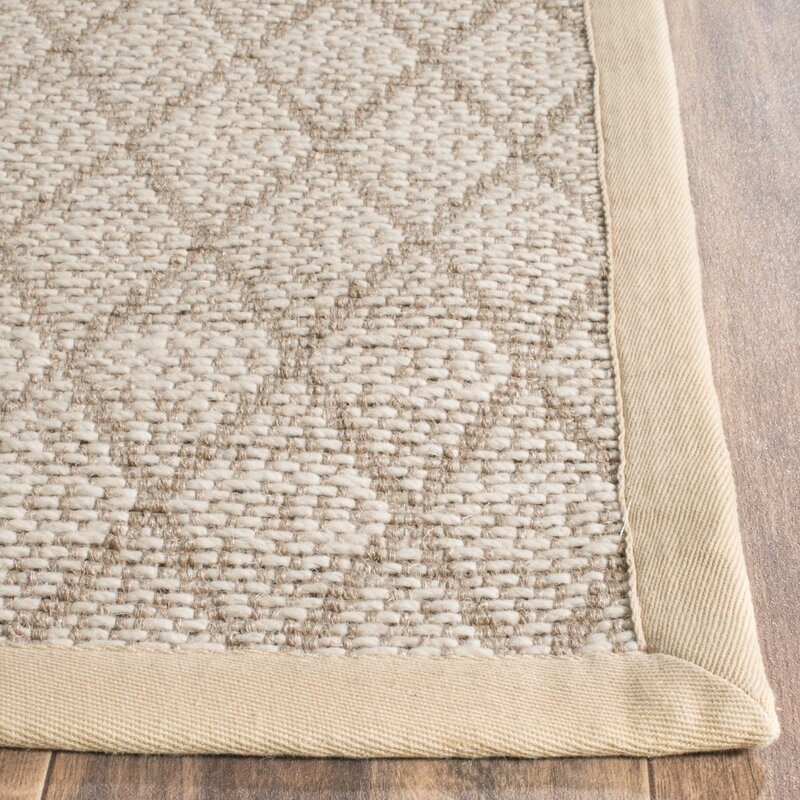 Darby Home Co Geometric Handmade Flatweave Jute Sisal Beige Area Rug Reviews Wayfair