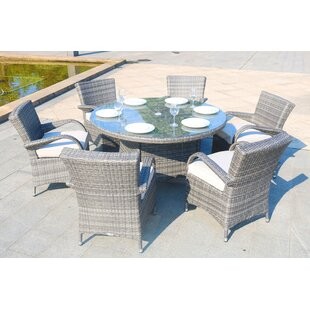 Dripping Springs 7 Piece Dining Set with Cushion