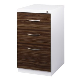 Reviews Zeigler Deep Pedestal 3-Drawer Mobile Vertical Filing Cabinet by Symple Stuff