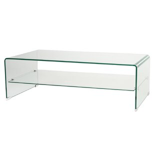 Arlinda Bended Glass TV Stand By Wade Logan