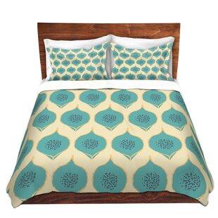 DiaNoche Designs Teal Petals Duvet Cover Set