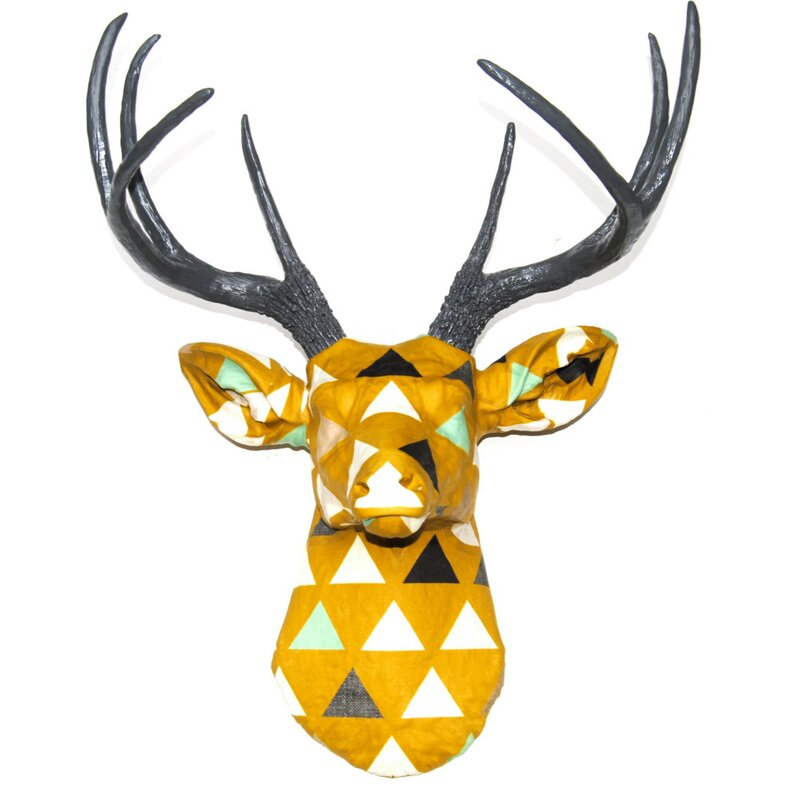 Ivy Bronx Faux Taxidermy Authentic Fabric Deer Head Wall Décor ...