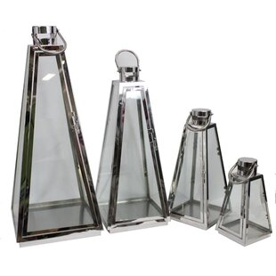 Latitude Run 4 Piece Metal Lantern Set