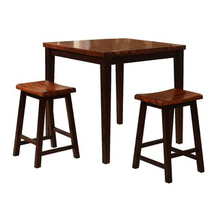 3 Piece Counter Height Pub Table Set