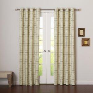 Plaid & Check Blackout Grommet Curtain Panels (Set of 2)