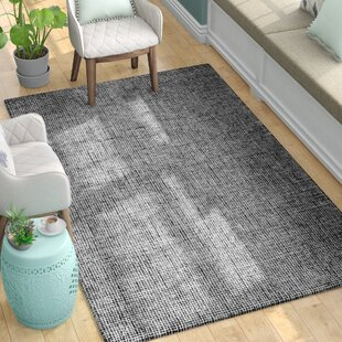Compare Guildhall Hand-Tufted 100% Wool Black Area Rug By Latitude Run