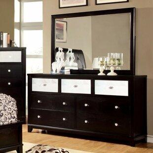 Braelynn 7 Drawer Dresser with Mirror by Everly Quinn