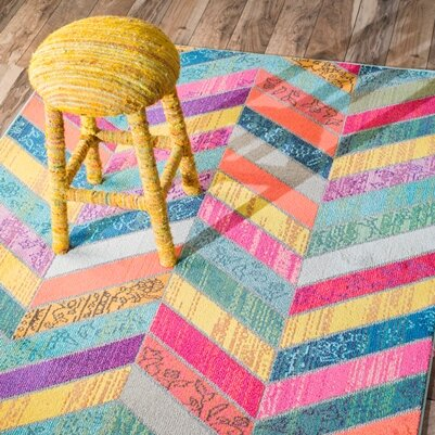 Bungalow Rose Fleming Multicolor Area Rug Reviews Wayfair