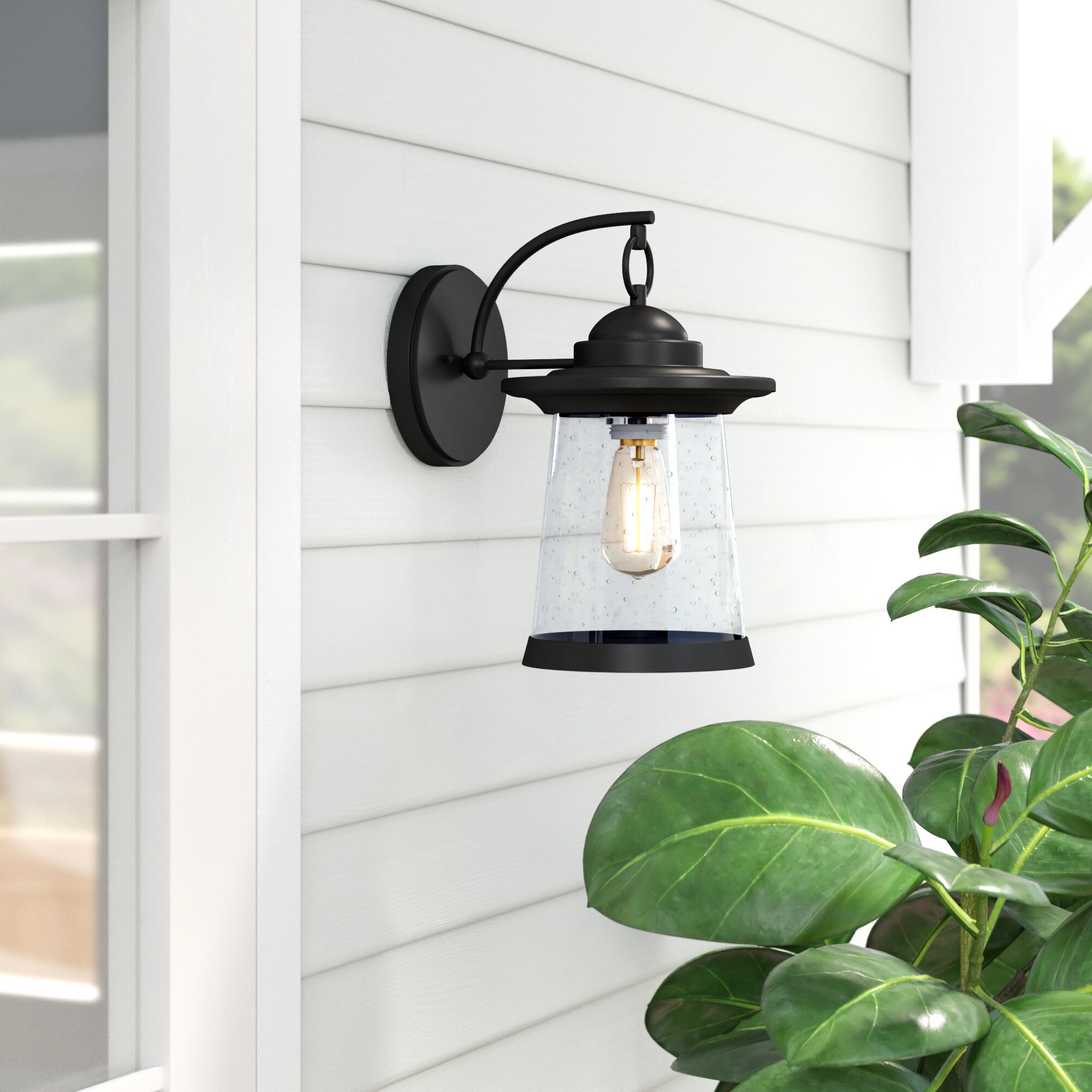 Wrought Studio Meadowlakes Outdoor Wall Sconce Reviews Wayfair Ca