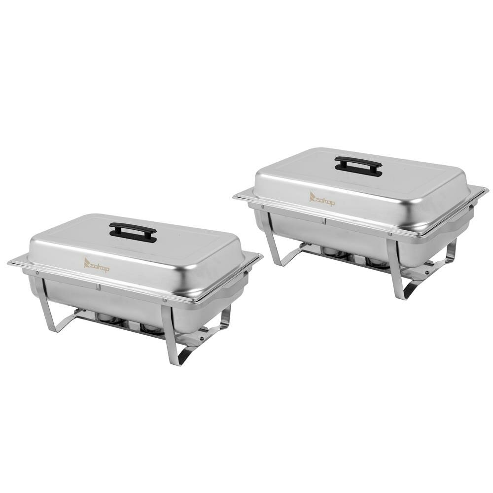 3.2 QT Full Size Buffet Catering Stainless Steel Chafer Chafing Dish Set Sliver