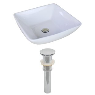 Ceramic Square Vessel Bathroom Sink by American Imaginations