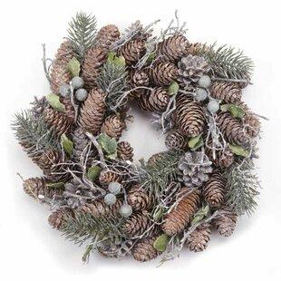 27cm Pine Cone Christmas Wreath Image