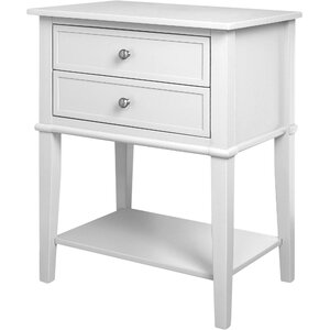Winfield 2 Drawer End Table by Beachcrest Home