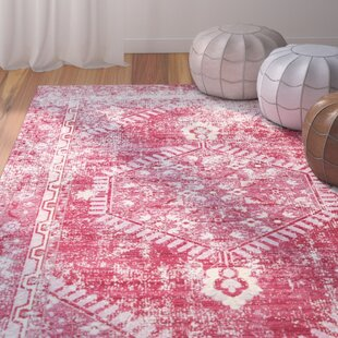 Price comparison Javon Persian Red/Cashmere Rose Area Rug By Bungalow Rose