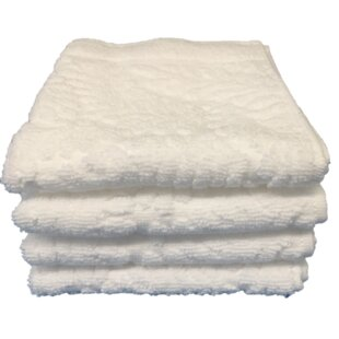 Lollar Egyptian-Quality Cotton Washcloth (Set of 4)
