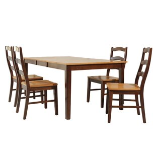 Kaw City 5 Piece Solid Wood Dining Set