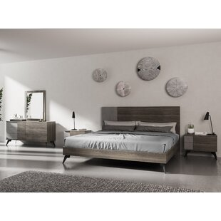 Bayport Italian Modern Platform 5 Piece Bedroom Set