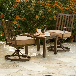 Yandel Bridgeport 3 Piece Bistro Set with Cushions by Darby Home Co