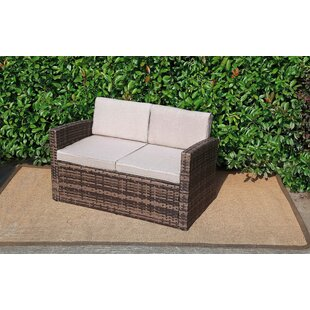 Outdoor Pool Garden Loveseat with Cushions