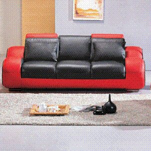 Hokku Designs Rollingstone Leather Reclining Sofa