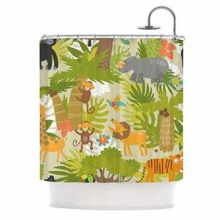 'Roar of the Jungle' Single Shower Curtain