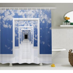 Sky with clouds Decor Single Shower Curtain