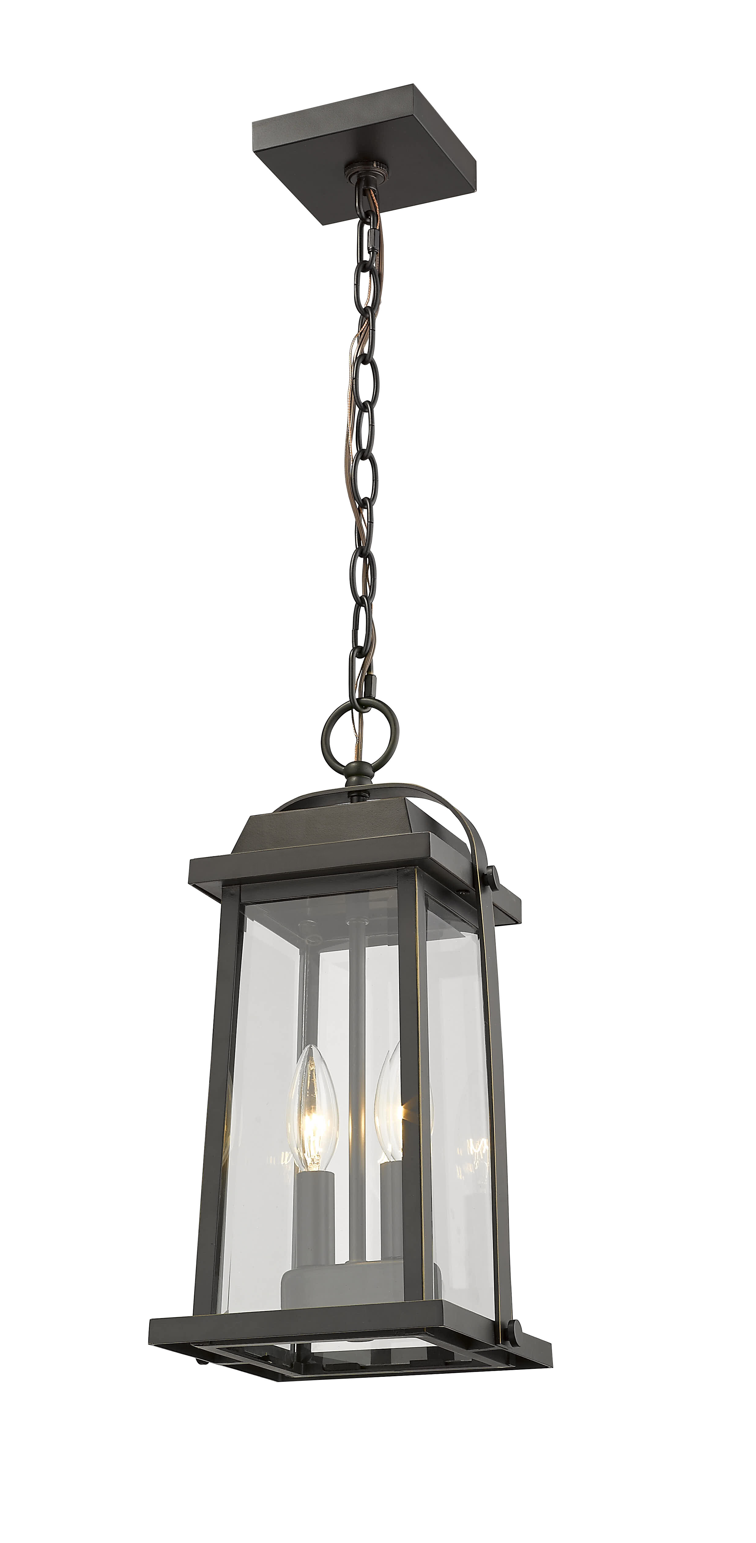 2 Light Oil Rubbed Bronze Outdoor Hanging Lights You Ll Love In 2021 Wayfair