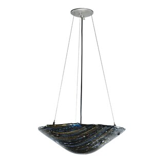 Meyda Tiffany Metro Fusion Cielo Di Notte Glass 2-Light Bowl Pendant