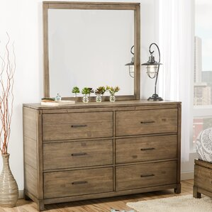 Pax 6 Drawer Double Dresser with Mirror by Mercury Row