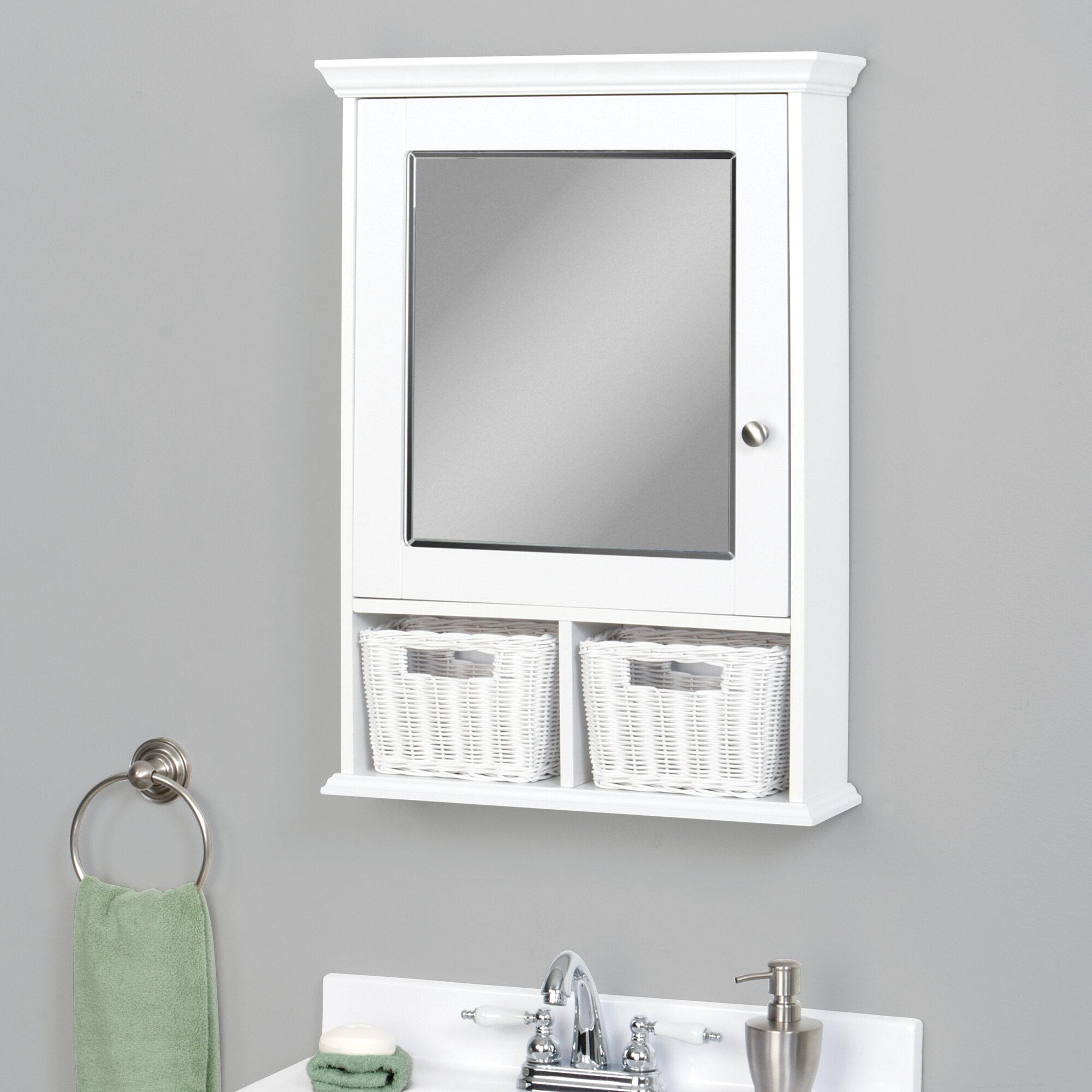Zenith Surface Mount Framed Medicine Cabinet With 2 Adjustable Shelves Reviews Wayfair