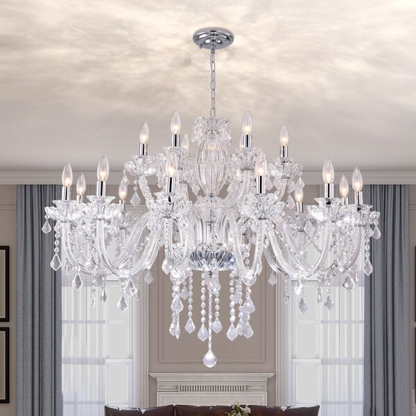 House Of Hampton Louann18 Light Candle Style Classic Traditional Chandelier Reviews Wayfair